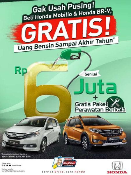 Promo Gratis bensin Beli Mobil Honda